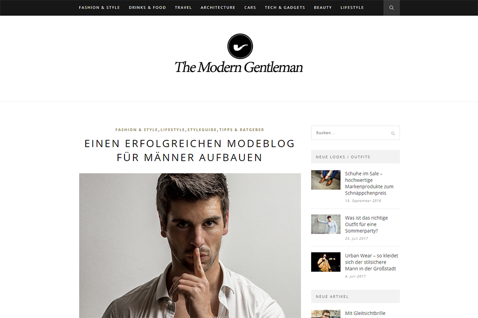 Blog allemand The Modern Gentleman