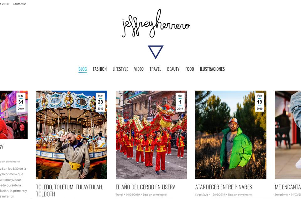 Blog espagnol Jeffrey Herrero