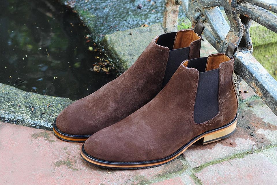 chelsea boots jules & jenn daim marron