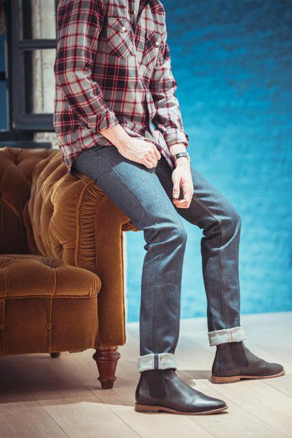 Chemise carreaux jean selvedge JAQK