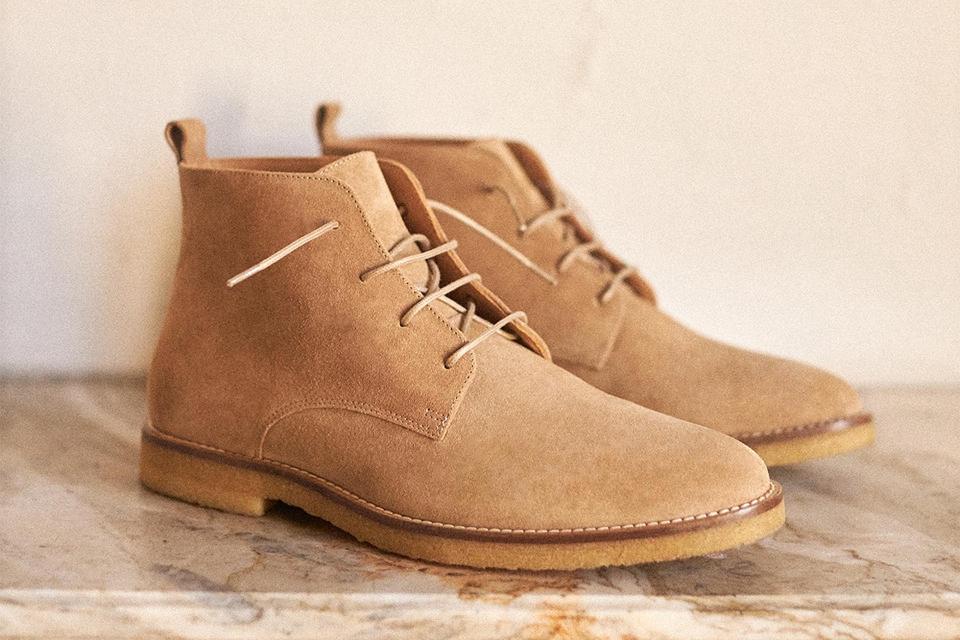 chukka boots semelles crepe beige octobre
