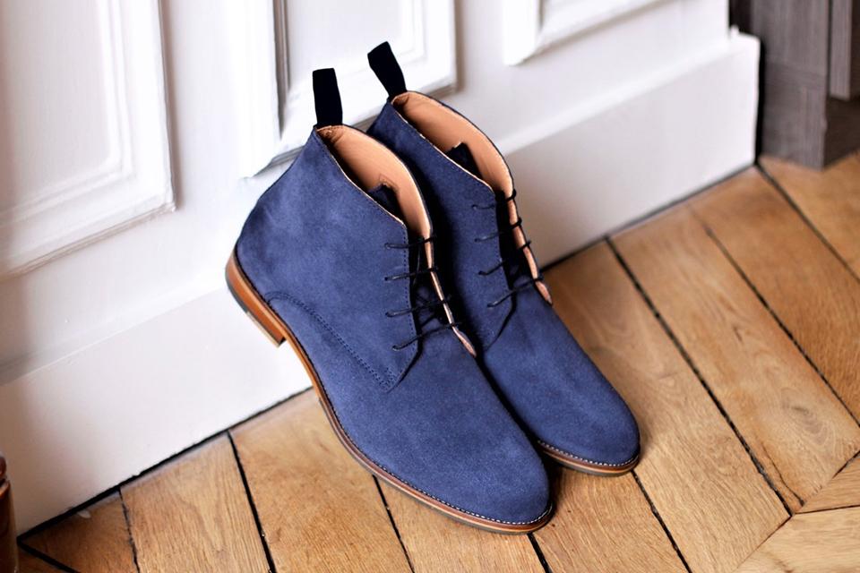 chukka boots sparkes bleu marine