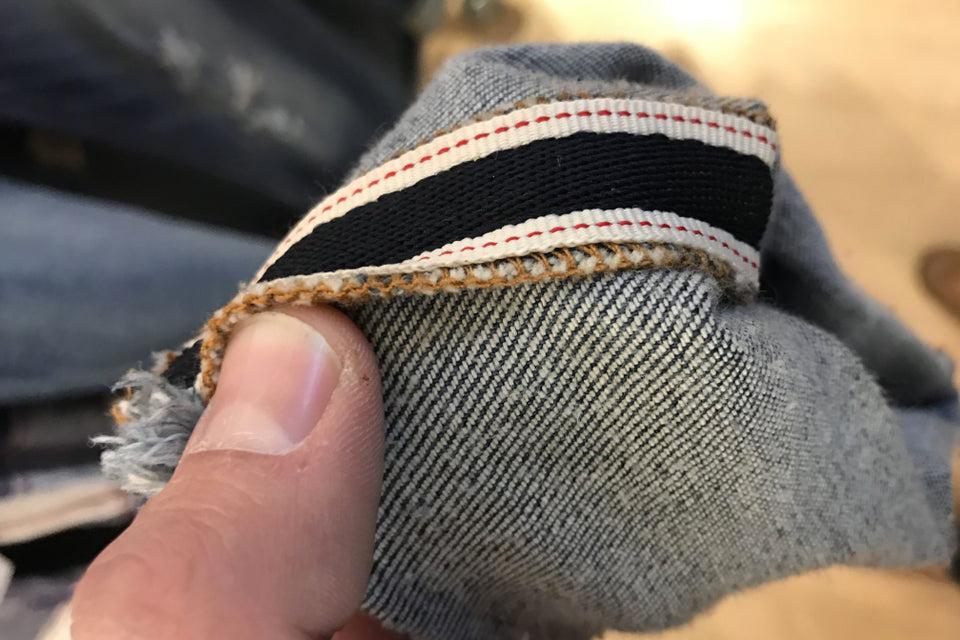 Faux jean selvedge