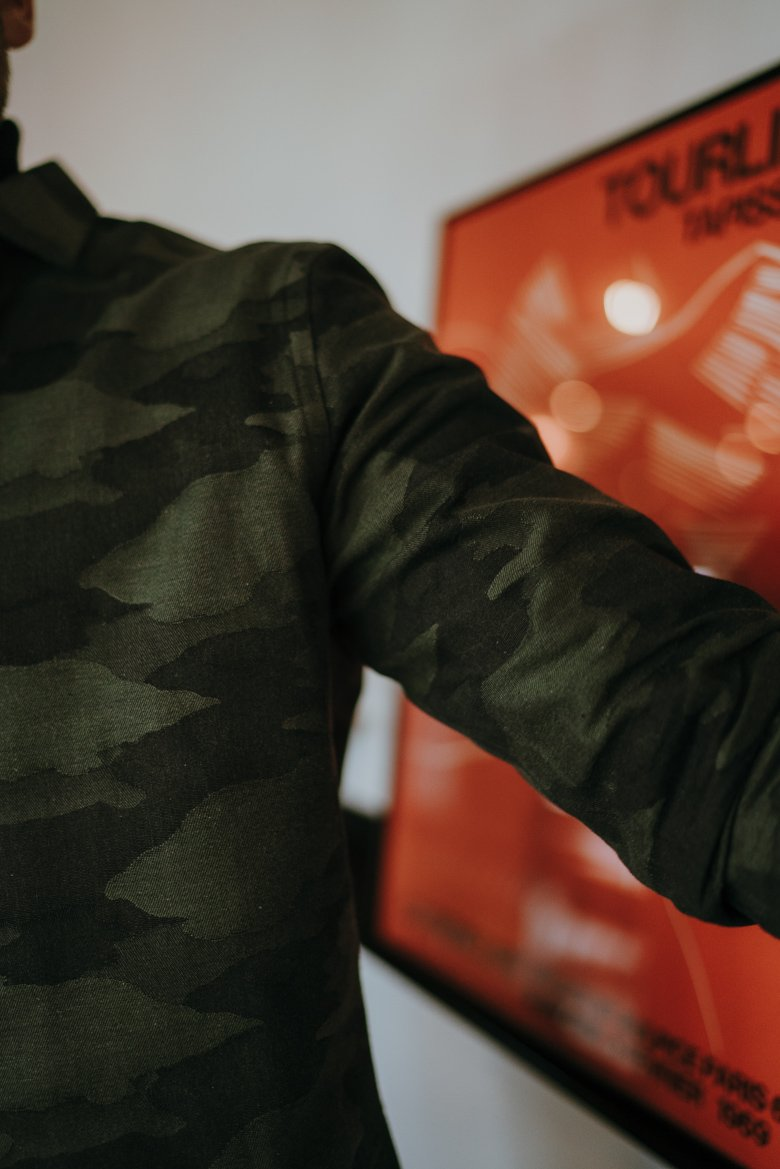 look homme automne 2019 focus motif camouflage