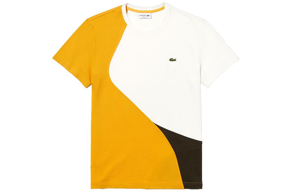 t shirt lacoste colourblock thermoregulateur