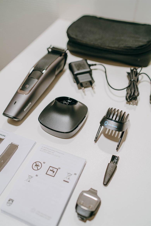 Tondeuse barbe Philips équipements