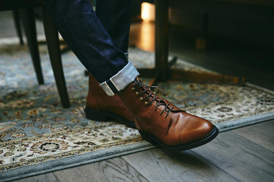 Ypson's wild boots cuir grainé