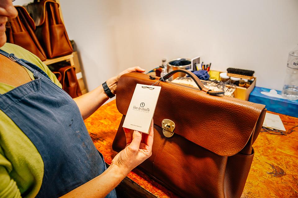Atelier Bleu de chauffe controle qualité étiquette