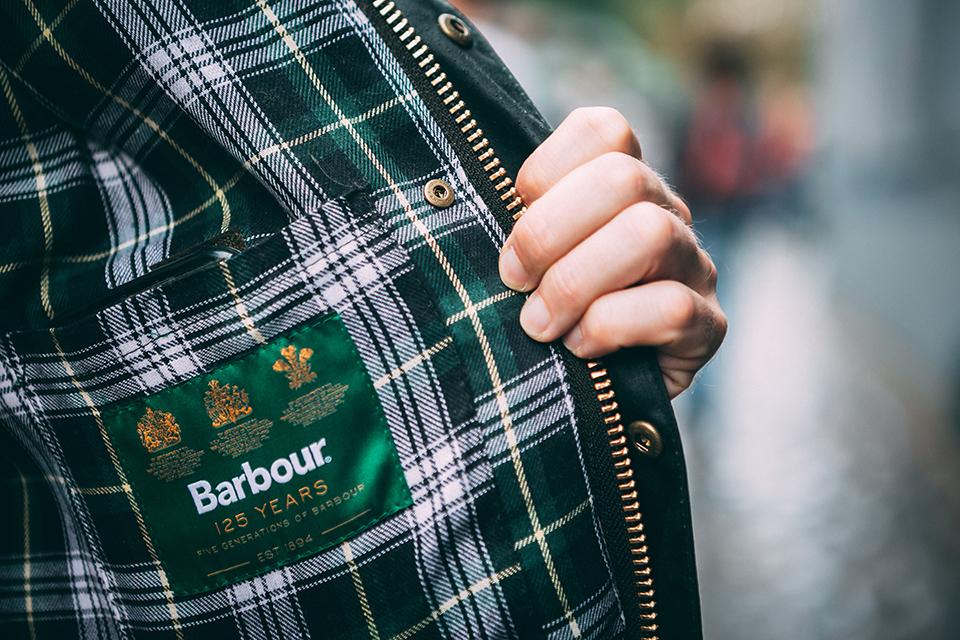 Blouson barbour tartan