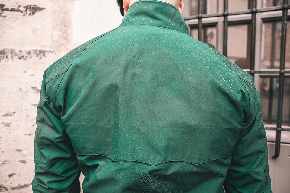 blouson baracuta G9 conception dos parapluie