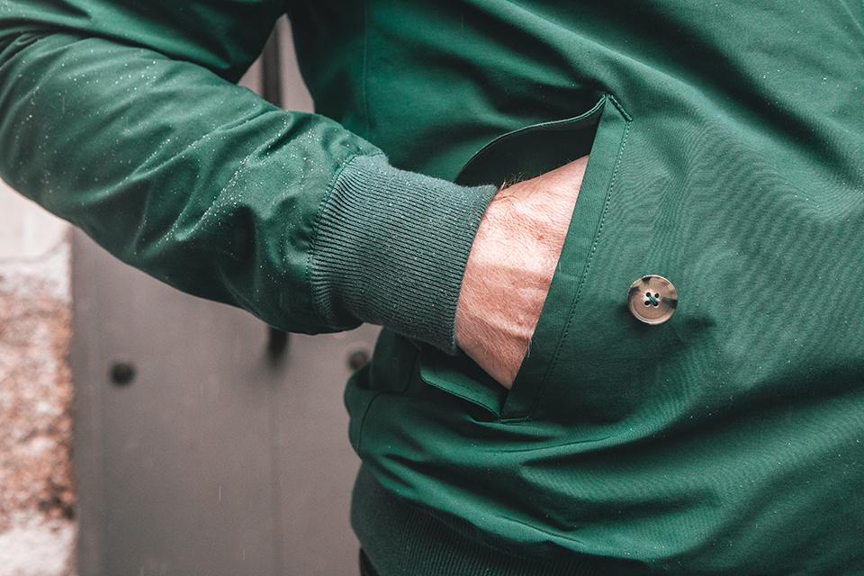 blouson baracuta G9 conception poche exterieure main