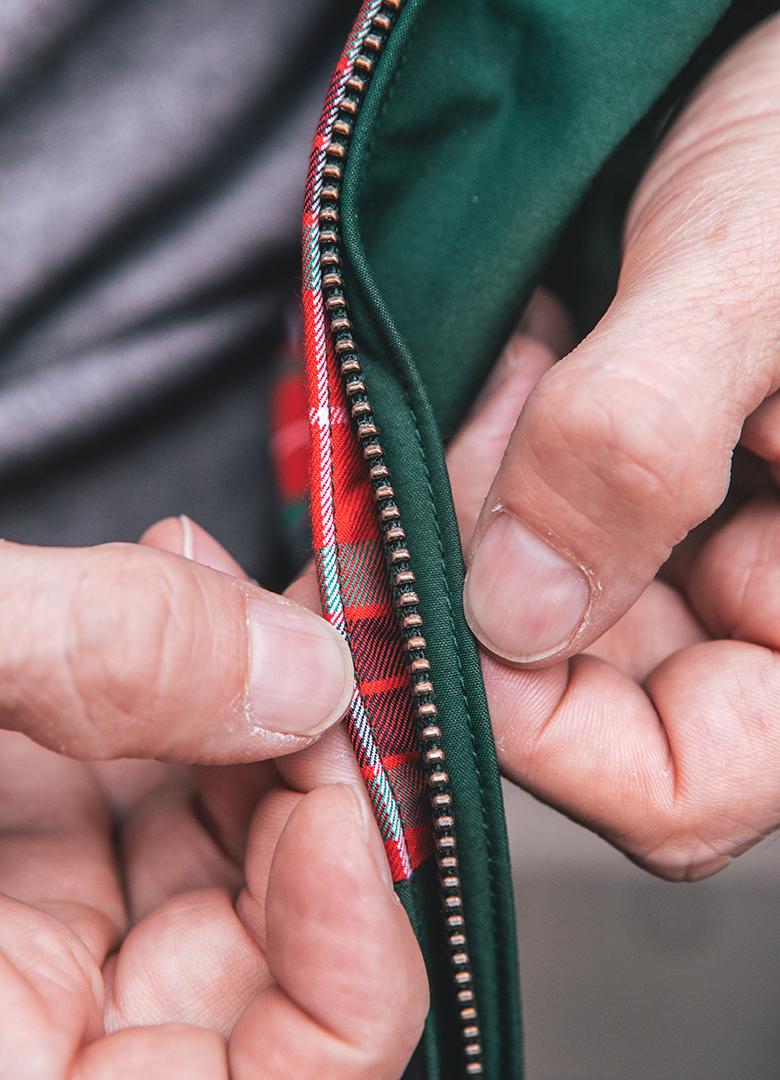 blouson baracuta G9 conception zip doublure