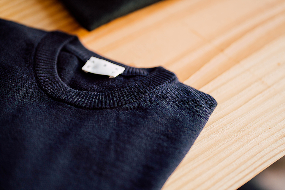Bords-côtes pull laine