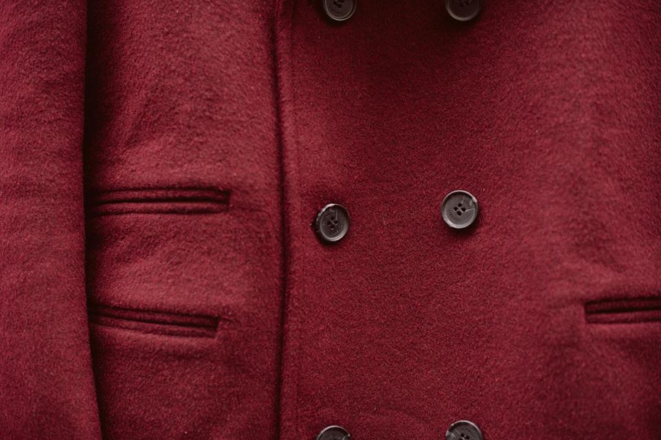 hockerty manteau bordeaux camby croisé