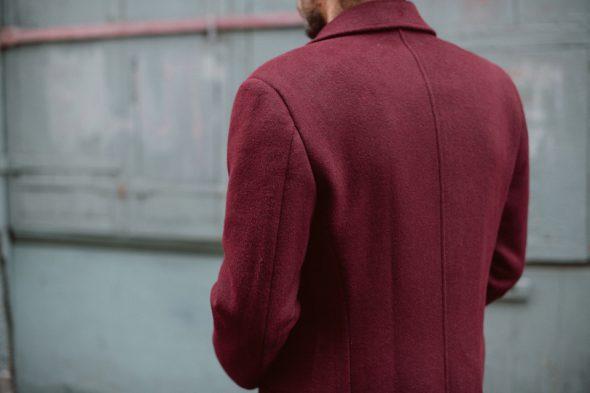 hockerty manteau bordeaux camby essayage