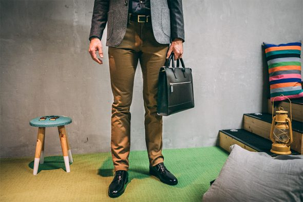 Look after work chino derbies porte-documents