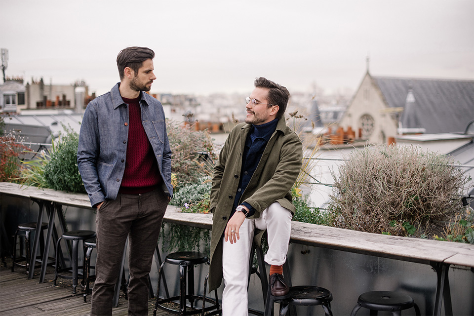 look homme automne luca gallacio x max comme un camion rooftop discussion