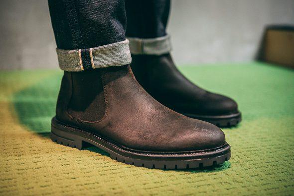 Look pub jean brut chelsea boots