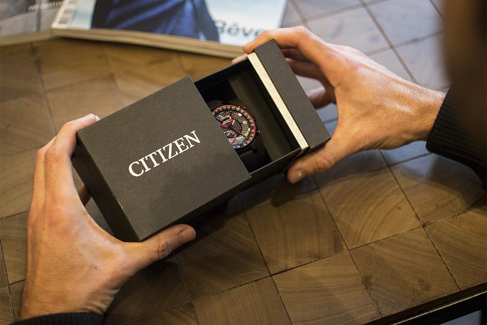 montre citizen eco-drive satellite wave test unboxing