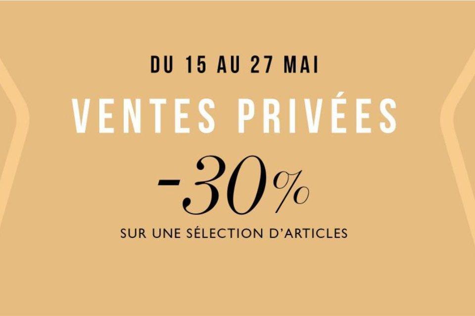 ventes privées Figaret Paris mai 2020