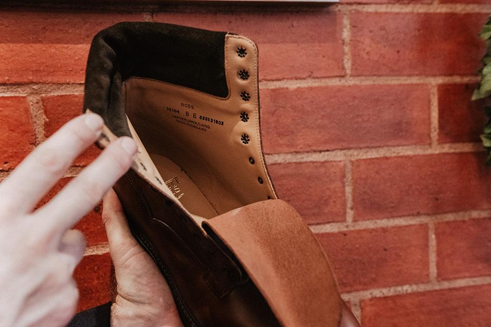 Boots Crockett & Jones Ross conception doublure