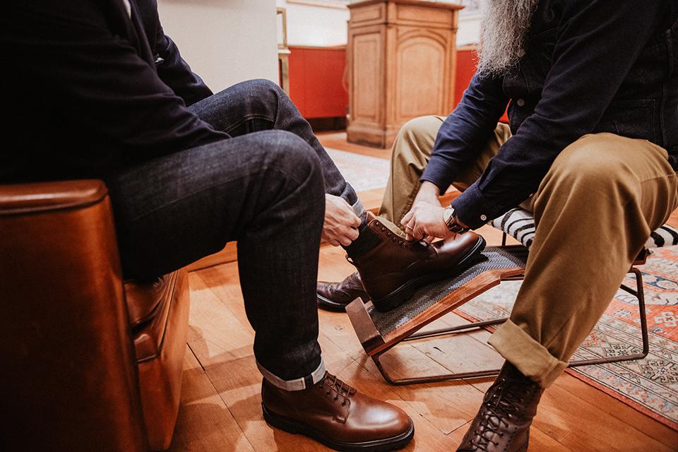 Boots Crockett & Jones Ross essayge tabouret