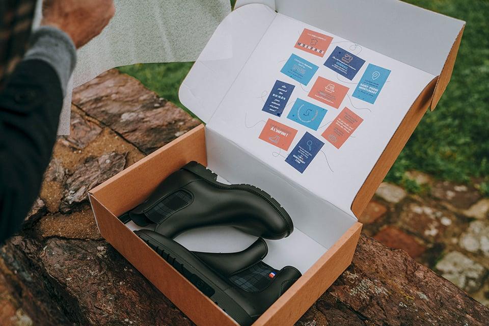 boots Montlimart presentation boite chaussures