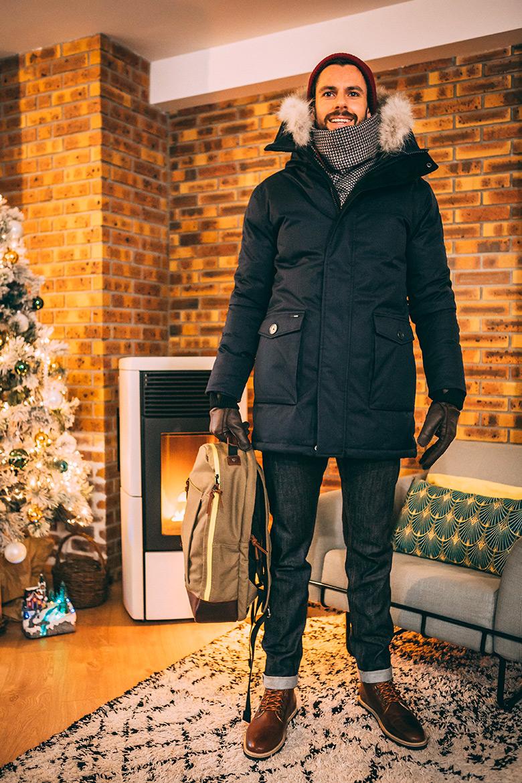 Look homme neige hiver