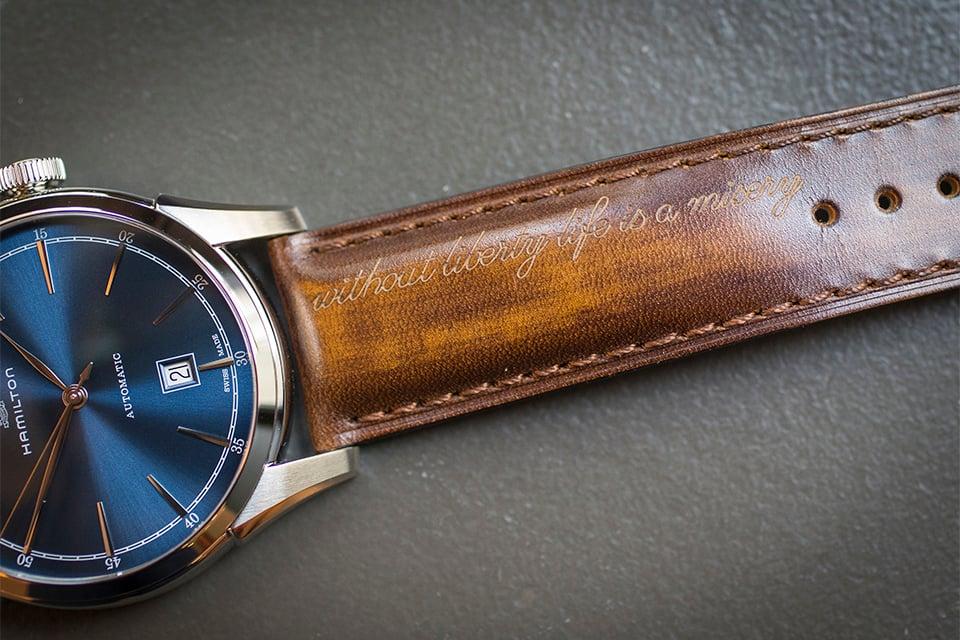 montre hamilton american classic spirit of liberty test avis bracelet
