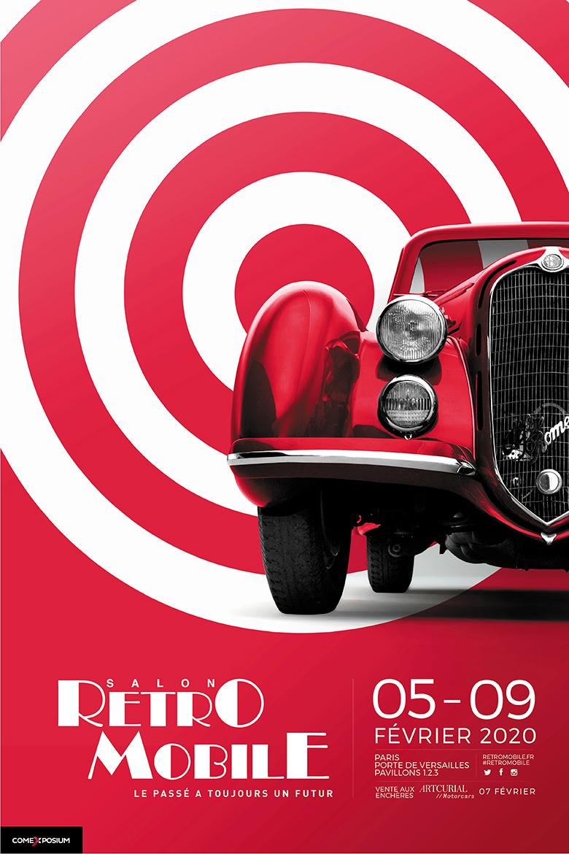 Affiche Retromobile Verticale 2020