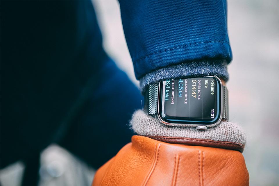 Apple watch 5 exercice vélo