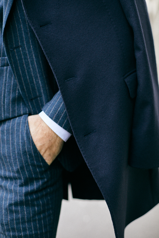 Bexley manteau honore bleu marine couture