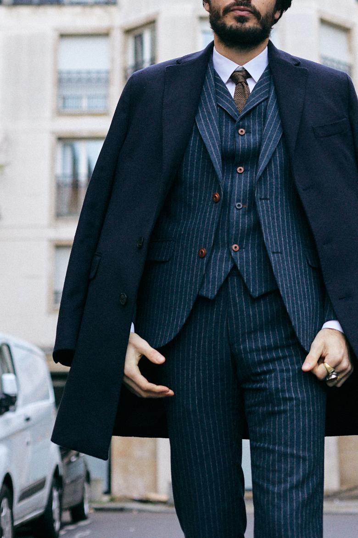bexley manteau honore bleu marine look