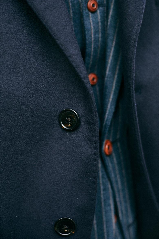 bexley manteau bleu marine surpiqure bouton