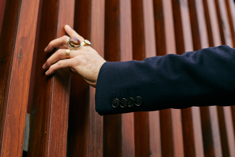 bexley manteau boutonnière manche