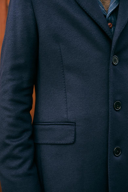 Bexley manteau honore bleu marine design face