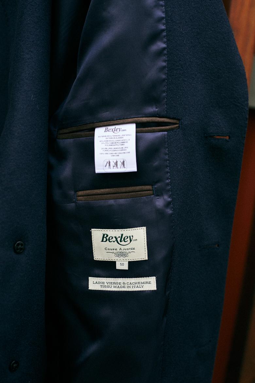 bexley manteau poches intérieures doublure