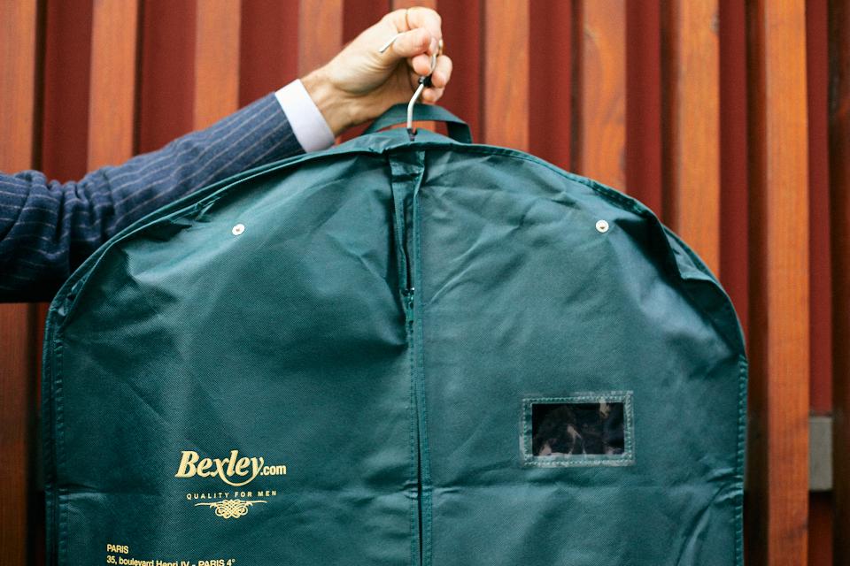 bexley manteau housse pressions etiquette