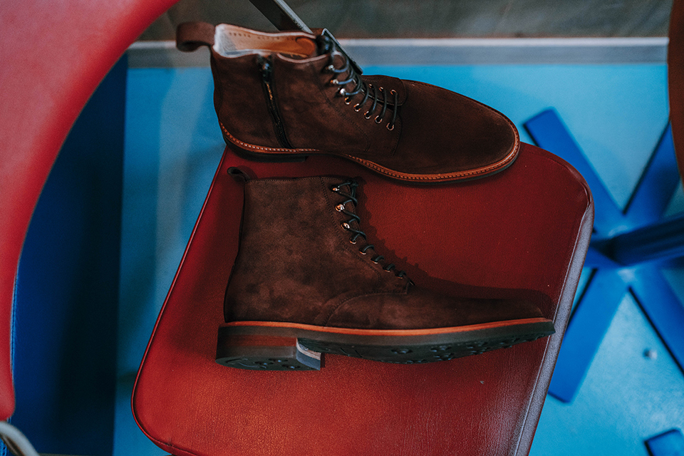 Boots Rudys Huster Velours Cuir Cote