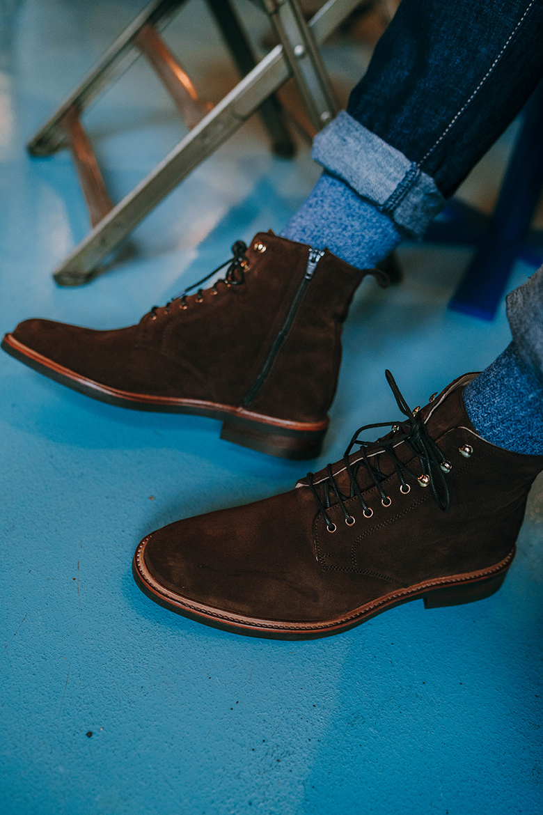 Boots Rudys Huster Velours Portees Close