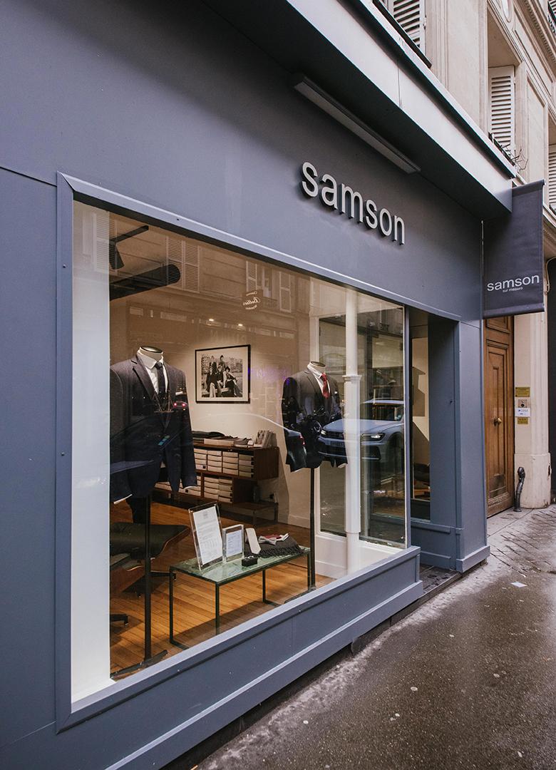 Boutique Samson Paris Madeleine devanture