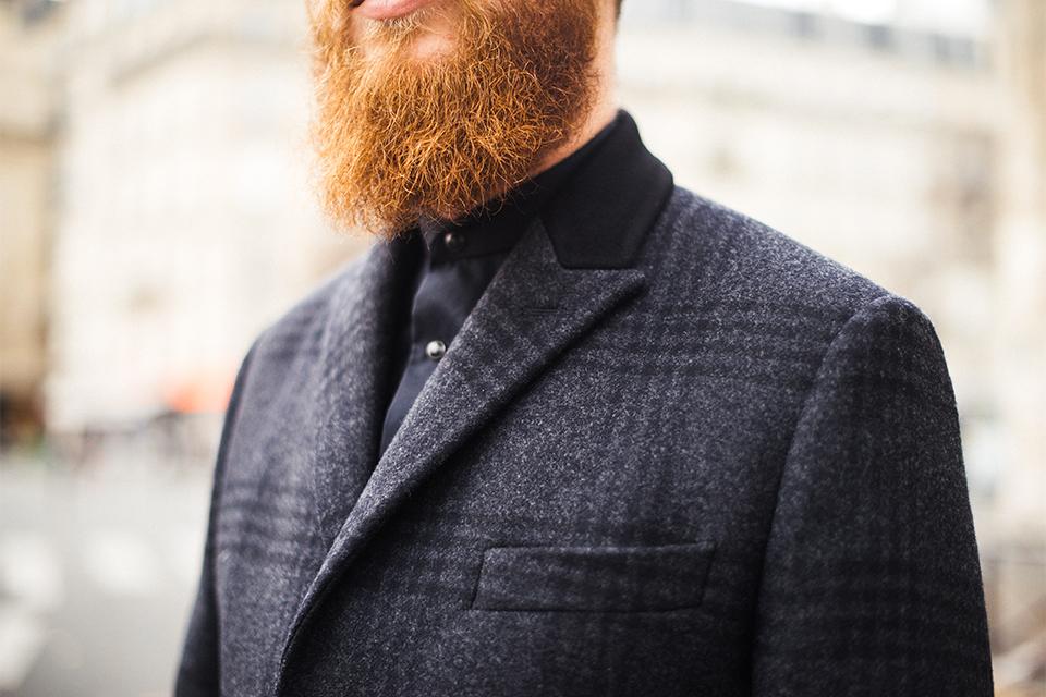 Caban en drap de laine bleu marine avec col amovible Chevignon