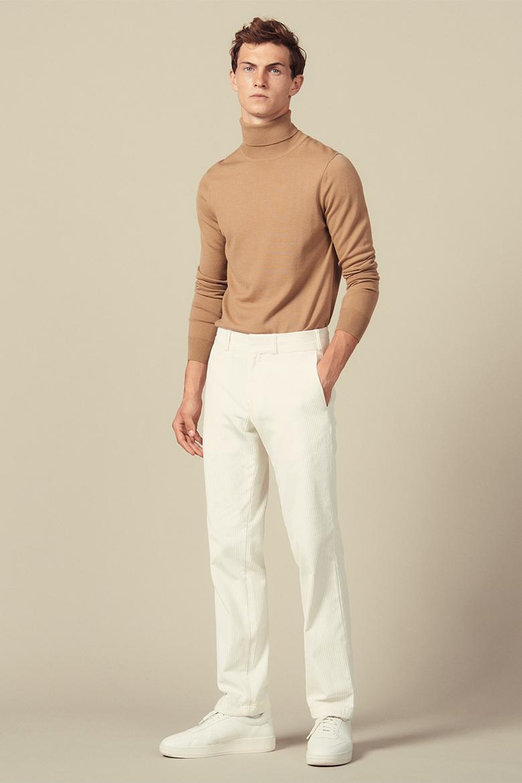 pantalon en velours blanc homme sandro
