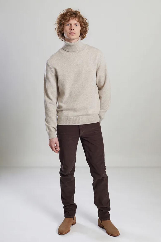 pantalon en velours homme marron lexception