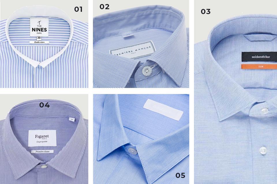 selection chemises bleue fw19