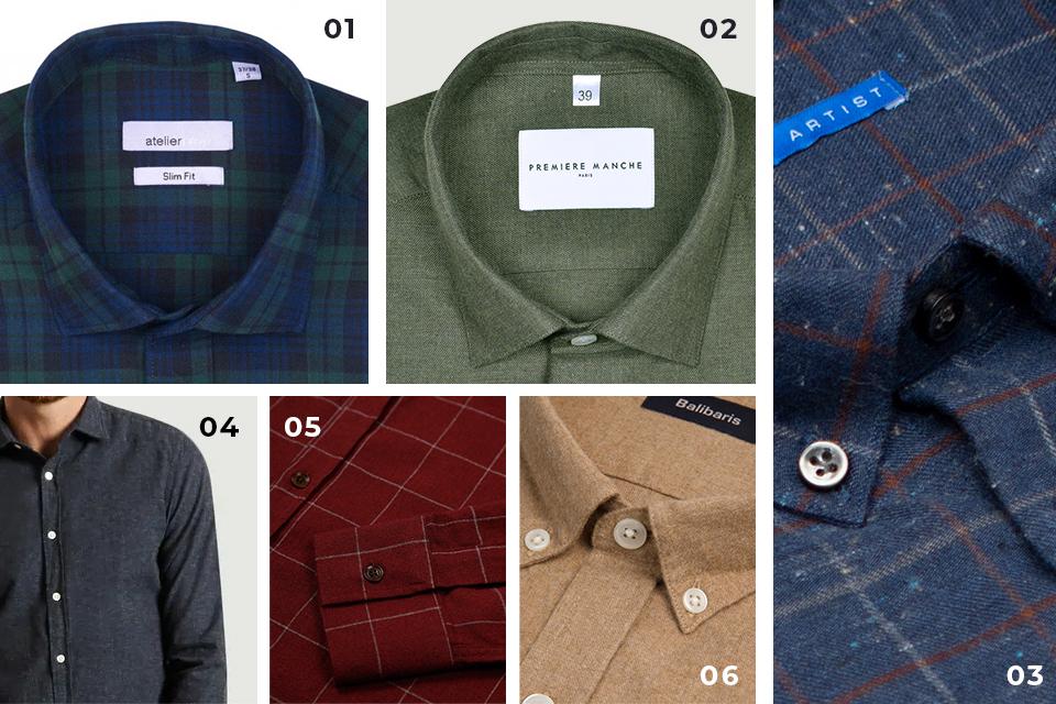 selection chemises flanelle fw19