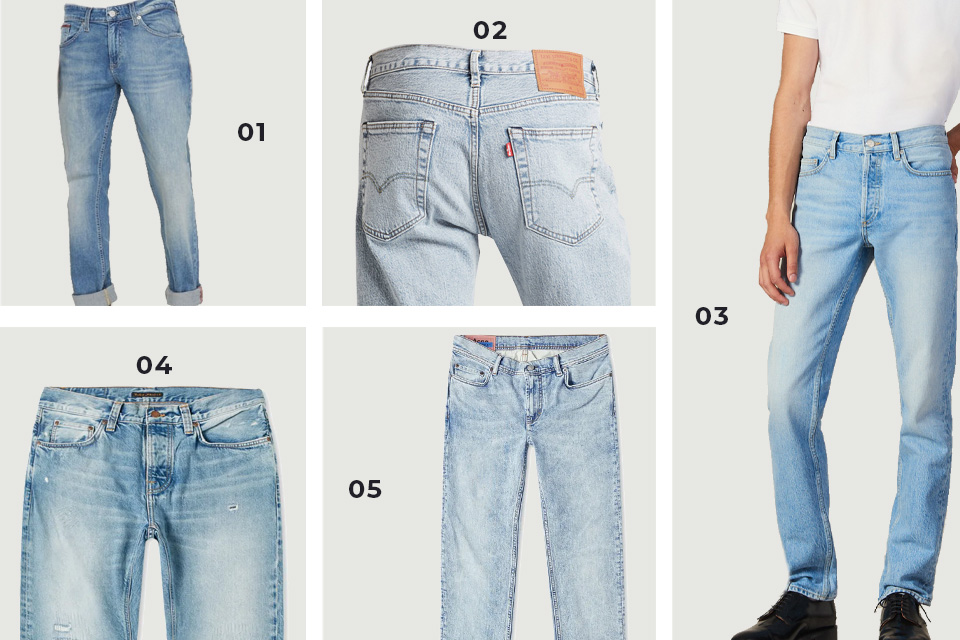 selection soldes jeans clairs fw19