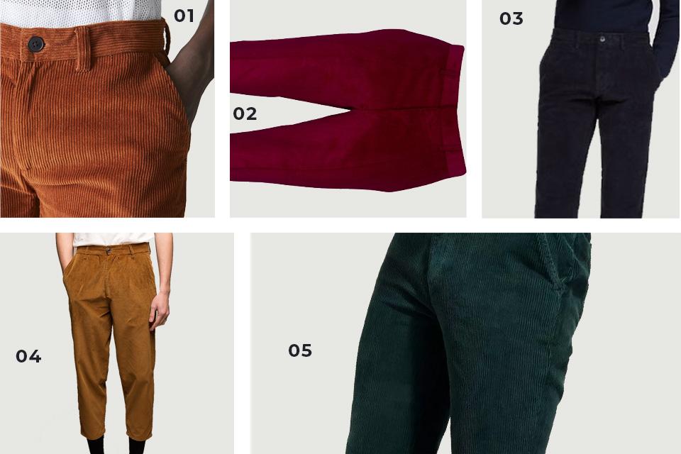 selection soldes pantalons velours fw19