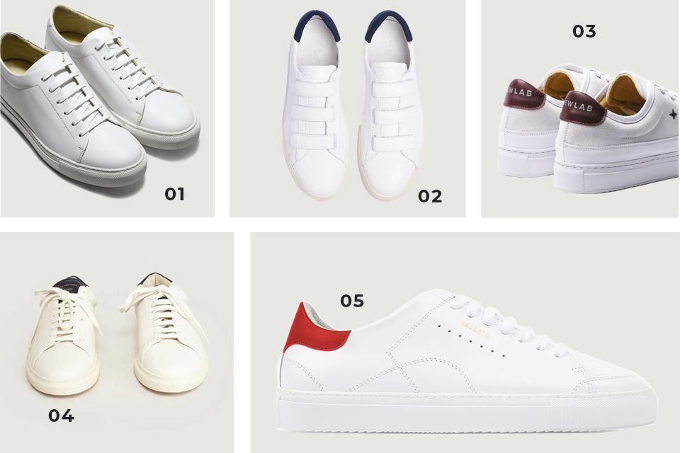 Soldes fw19 sélection baskets blanches