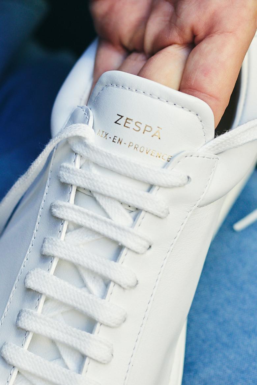 test baskets Zespà Aix-en-provence ZSP4 HGH WHT la languette